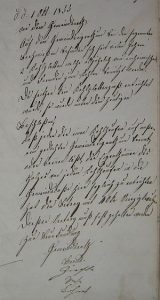 Auszug Gemeinderatsprotokoll 1855