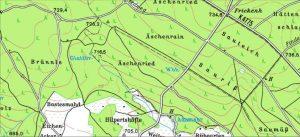 Kartenausschnitt Hilpertshöfle - Äschenried