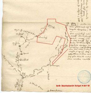 Historische Karte von Heinrich Schickhardt