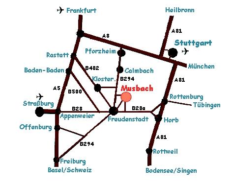 Strassen nach Musbach
